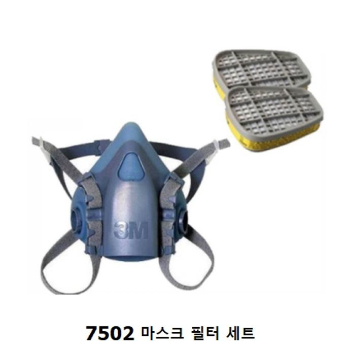 3M 7502+6006K 산업용 방독 마스크 세트