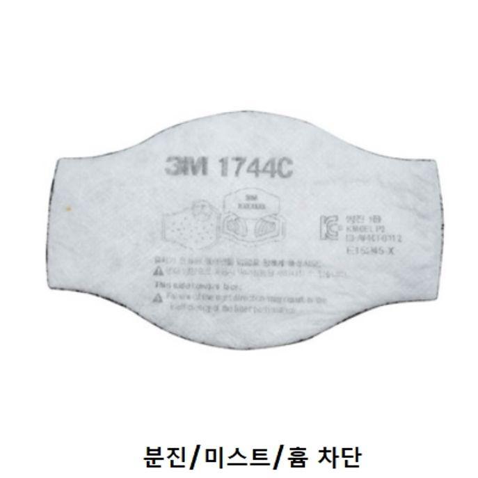 3M 1744C 산업 마스크용 방독 방진 필터 1개