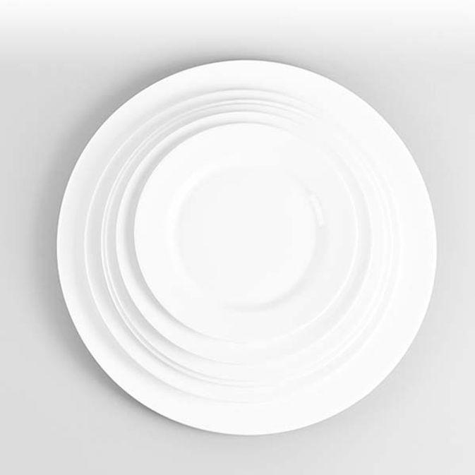 원형접시 도자기 접시 양식기 디저트 카페 접시 9in