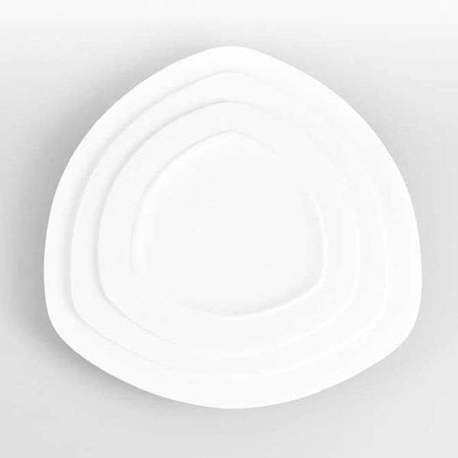 삼각접시 도자기 접시 양식기 한식당 카페 접시 12in
