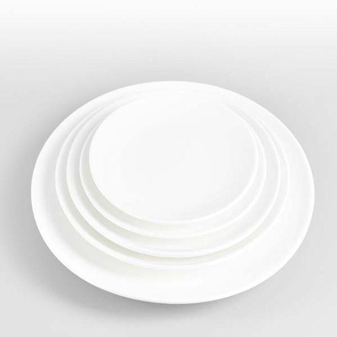 원형접시 도자기 접시 양식기 식당 뷔페 앞접시 7in