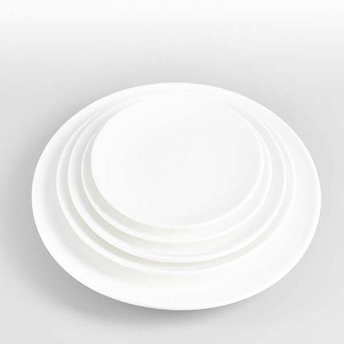 원형접시 도자기 접시 양식기 식당 뷔페 앞접시 10in