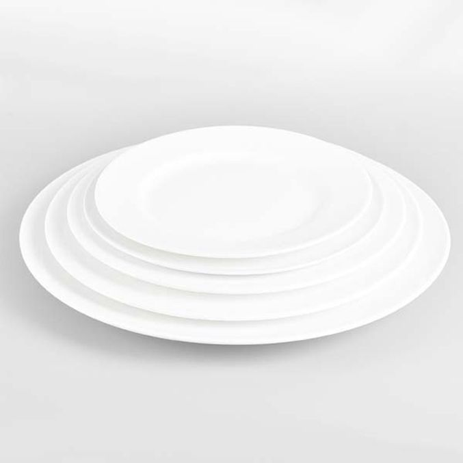 원형접시 도자기 접시 양식기 메인 카페 접시 7.75in