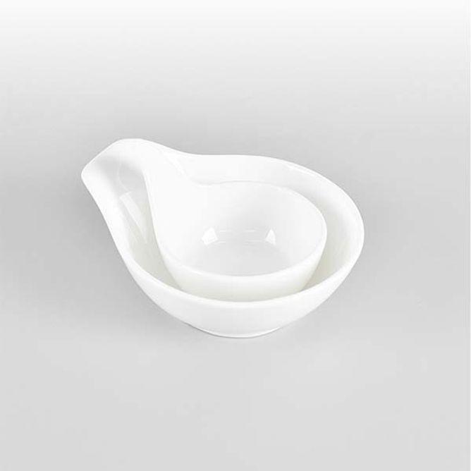 손잡이 소스그릇 도자기 양념그릇 소스볼 식기 소